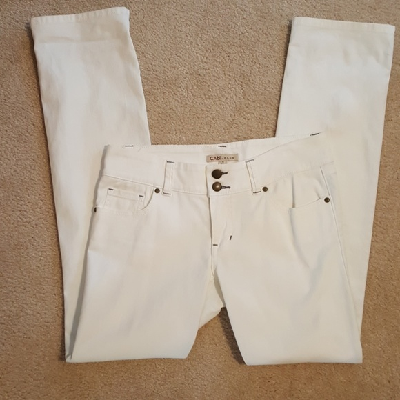 CAbi Denim - Straight Leg White Jean